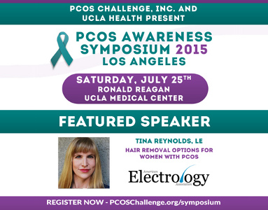 Electrologist Tina Reynolds will be speaking at the 2015 PCOS Symposium in Los Angeles