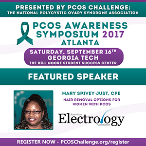 Mary Spivey-Just CPE will be speaking at the PCOS Challege 2017 event